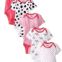 Gerber Baby Girls' Five-Pack Variety Bodysuits