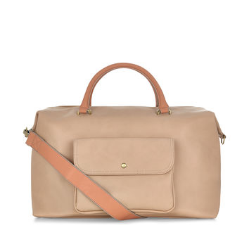 Edith Front Pocket Weekender Bag | Nude | Accessorize