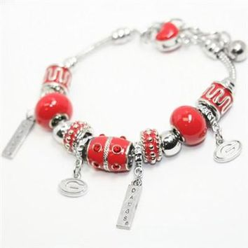 Georgia Bulldogs - Custom Made Quad-Charm Bracelet