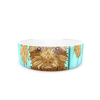 """Art Love Passion """"Gatsby the Great"""" Brown Dog Pet Bowl"""