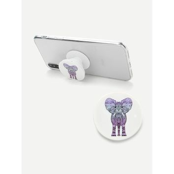 Elephant Pattern Gasbag Phone Holder