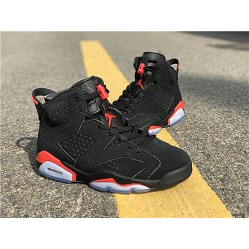 Air Jordan 6 Retro Men Black Infrared AJ6 Basketball Shoes 68ef933287
