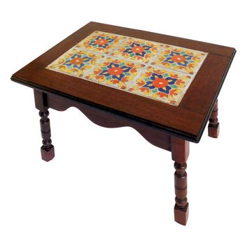 Pre-owned Vintage 1930s Tiled Coffee or Side Table