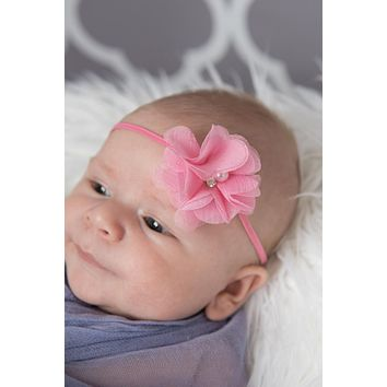Pink Infant Elastic Headband