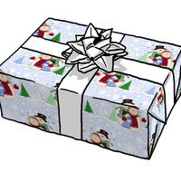 Snowman Family Chistmas giftwrap - spicetree - Spoonflower
