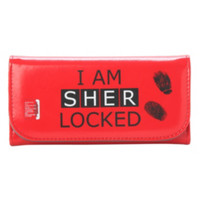 Sherlock Red Sherlocked Flap Wallet