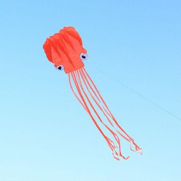 DCCKL72 4m Single Line Stunt RED Octopus Power Sport Portable Flying Kite Outdoor Sports Gift Toys Kite Easy To Fly