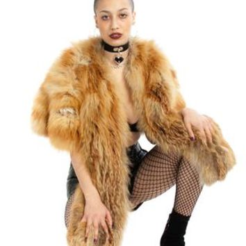 Vintage 60's Barbarella Furry Stole - One Size Fits Many - Tunnel Vision