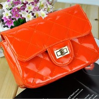 New Fashion Women's Candy Color Synthetic Leather Handbag Shoulder Bag Dinner Party