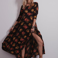 Long Sleeve Floral Printed Maxi Dress