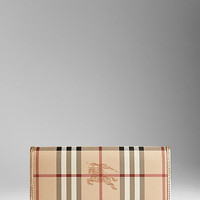 Haymarket Check Patent Trim Continental Wallet