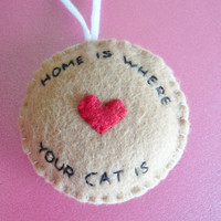 Home is Where Your Cat Is Ornament by TheOffbeatBear
