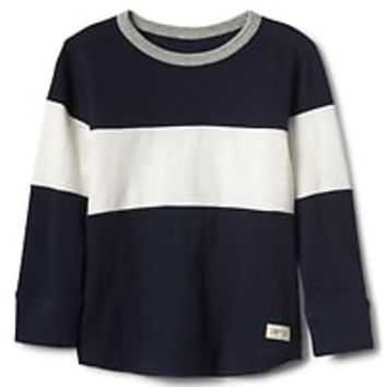 Chest-stripe waffle knit tee|gap