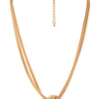 FOREVER 21 Knotted Snake Chain Necklace Gold One
