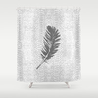 Lovely grey feather Art Print by Julia Grifol Designs