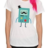 Adventure Time BMO Stache Girls T-Shirt Plus Size - 326438
