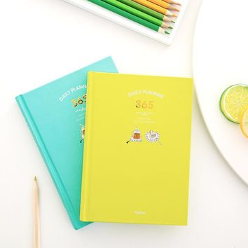 New 2017 Korean Kawaii Cute 365 Planner Daily Weekly Monthly Yearly Planner Agenda Schedule Day Plan Notebook Journal Dairy A5