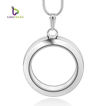 1pc 30mm Round Magnetic Glass Floating Charm Locket 4 Colors 2 Styles Memory Photo Locket (includ Free Chain) Lsfl02 1