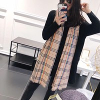 Perfect Burberry Women Fashion Accessories Sunscreen Cape Scarves Silk Scarf Burberry shawl q_1689347108