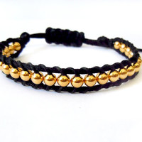 Gold Plated Single Wrap Bracelet
