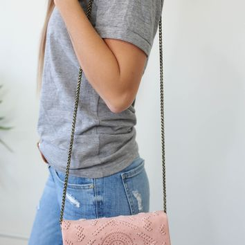 Montezuma Convertible Clutch - Blush