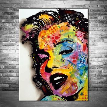 Canvas painting Wall Art Picture prints Marilyn Monroe on canvas home decor Wall poster decoration for living room no frame