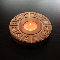 Zodiac candle holder Horoscope Chinese astrology Aries Pisces Leo Sagittarius Gemini Capricorn Aquarius Scorpio Libra Cancer Virgo Taurus