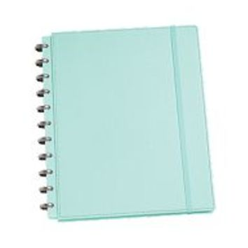 "Discbound Notebooks Martha Stewart Home Office™ with Avery™ Discbound Customizable Notebook 10052, Blue, Textured, 9-1/2"" x 11-1/2"" 10052 