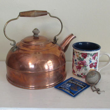 Vintage Copper Tea Kettle | Revere Ware Tea Pot
