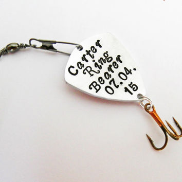 Shop custom fishing lure gifts on wanelo for Wedding ring fishing lure