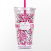 Lilly Pulitzer - Tumbler With Straw- Alpha Phi