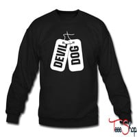 Devil Dog Marine Dog Tags crewneck sweatshirt