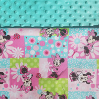 Personalized Minnie Mouse Blanket, Minnie Mouse Blanket, Minnie Mouse, Minky Blanket