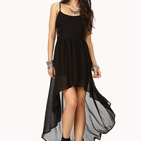 Pretty Cutout High-Low Dress