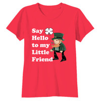 Say Hello To My Little Friend - Youth Girls Short Sleeve T-Shirt
