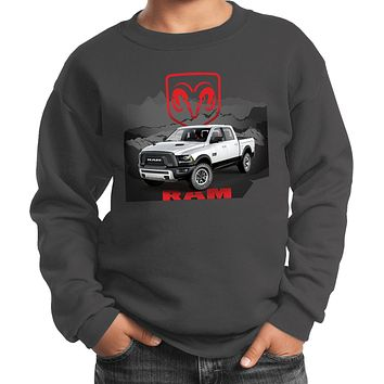 Buy Cool Shirts Kids Dodge Sweatshirt White Ram Youth Sweat Shirt