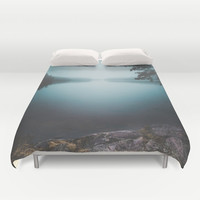 Lake insomnia Duvet Cover by HappyMelvin