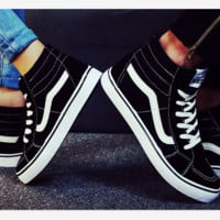 Fashion Black Casual Shoes Black high tops sport shoes