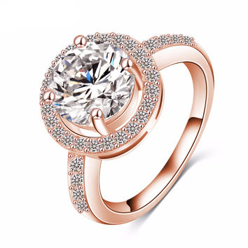 Exquisite AAA Cubic Zirconia Heart Ring - Available in Various Colors