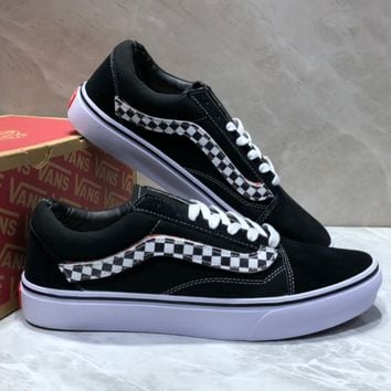 VANS OLD SKOOL Black and white couple shoes