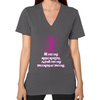 WE ARE THE MUSIC MAKERS V-Neck (on woman)