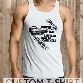 Supernatural Driver Picks The Music Men Tanktop - tri1 Tanktop For Men  / Custom - Tanktop / Men Tanktop