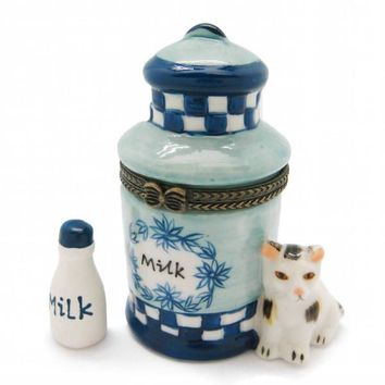 Treasure Box Blue and White Milk can
