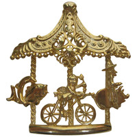 Gold Toned Carousel Brooch