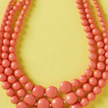 Strong, Vibrant Type Beaded Necklace