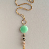 Mint Genuine Quartz Pendant Necklace