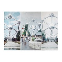 Brussels Atomium Photo Collage Acrylic Print