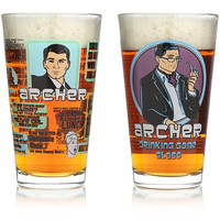 Archer 2 pack Pint Glass Set