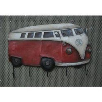 Rustic Red and White Van Wall Hooks by Urban Port