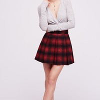 High Waisted Mini Plaid Skirt - Red Combo by Free People